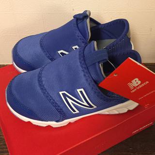 ニューバランス(New Balance)の新品 ニューバランス スニーカー スリッポン 16センチ 青 靴 ベビー 男の子(スニーカー)