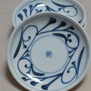 砥部焼 公水窯 取り皿4枚(陶芸)