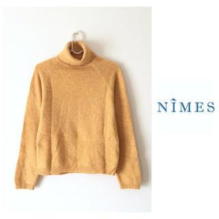 ニーム(NIMES)のNîmes BLAUW&WIT*ニット タートルネック ウール100%(ニット/セーター)