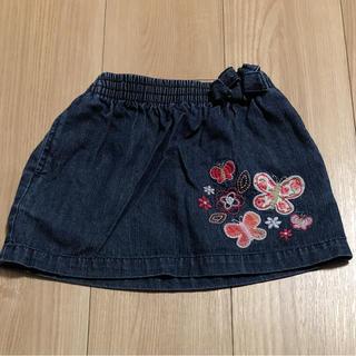 オシュコシュ(OshKosh)のOSHKOSHデニムスカート お花刺繍(スカート)