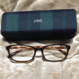 ジンズ(JINS)の伊達眼鏡 メガネ JINS ☆未使用美品(サングラス/メガネ)