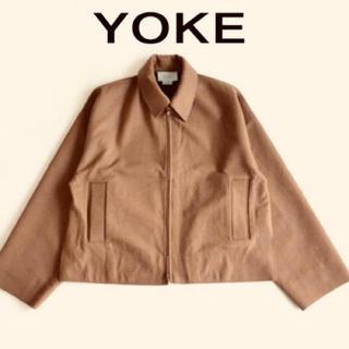 アンユーズド(UNUSED)のyoke ドリズラージャケット キャメル M(ブルゾン)