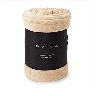 mofua 毛布 シングル   カラー【ベージュ 】(毛布)