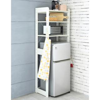 開店記念セール◆冷蔵庫上のスペースを有効活用できる冷蔵庫ラック(キッチン収納)