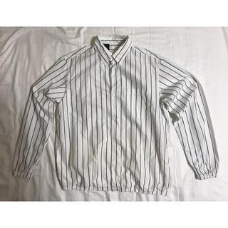 エヌハリウッド(N.HOOLYWOOD)の【美品】N.hoolywood Stripe Shirts Blouson 38(シャツ)