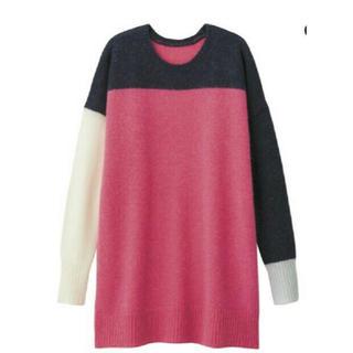 GUキムジョーンズコラボカラーブロックセーターピンク