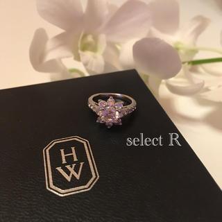 新品 人工ダイヤモンド サンフラワー シルバー925 プラチナ リング 指輪(リング(指輪))