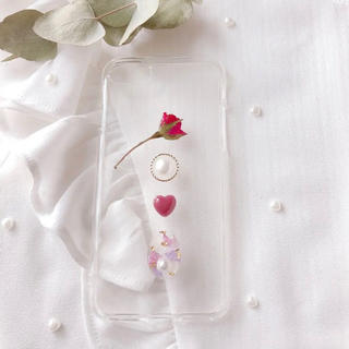 ❤︎rose×statice❤︎ iphone7.8.X(スマホケース)