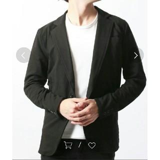 シスキー(ShISKY)のLブラック メンズ カジャアル ジャケット(テーラードジャケット)