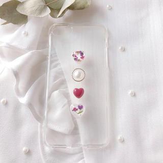 ❤︎alyssum heart❤︎ iphone7.8.X(スマホケース)