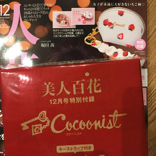 コクーニスト(Cocoonist)の美人百花12月号付録❁︎コクーニストマルチミニケース(ポーチ)