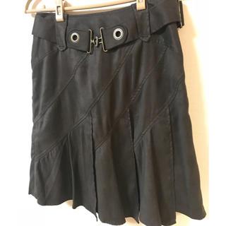 クレデヴェール(cledevers)のスエードスカート(ひざ丈スカート)