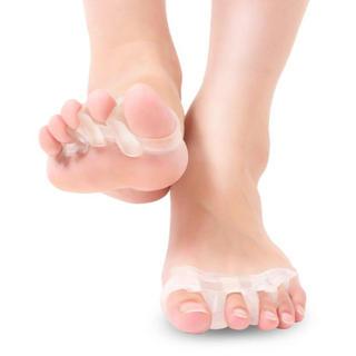 サポーター 足指美人 足指矯正パッド 指間広 浮き指 シリコン素材 2個セット(フットケア)