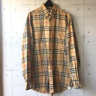 バーバリー(BURBERRY)の超希少 【ネルシャツ】 バーバリー チェックシャツ 大きめ メンズ S〜L(シャツ)