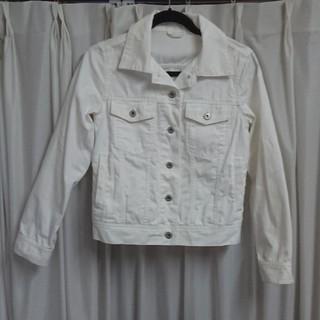 ジーユー(GU)のGU レディース ジャケット 白 Mサイズ(ノーカラージャケット)