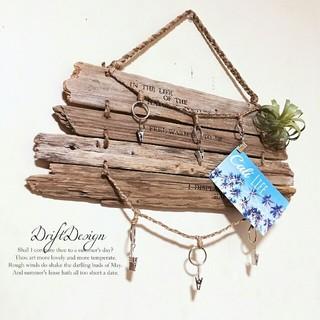~Drift Design~ 流木板と造花のお洒落なフォトハンガー 写真(フォトフレーム)