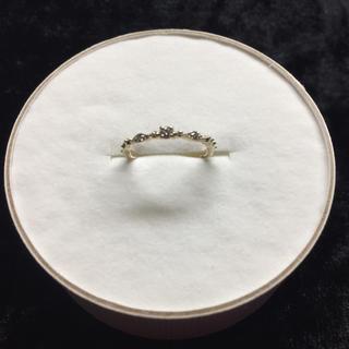 ダイヤ三粒 ピンキーリング 10k(リング(指輪))