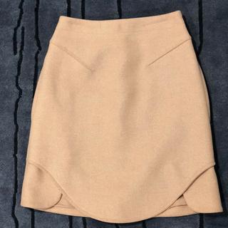 カルヴェン(CARVEN)の★美品★【CARVEN】カルヴェン キャメル スカート 34(ひざ丈スカート)