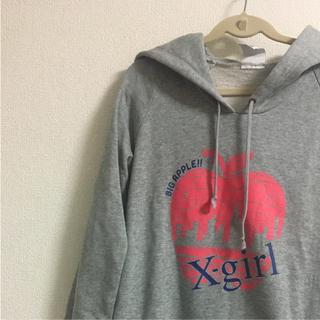 エックスガール(X-girl)のx-girl  Big Apple パーカーワンピース スウェット(ひざ丈ワンピース)