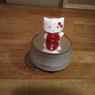 キティちゃんクリスタルガラスオルゴール(オルゴール)