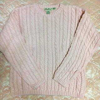 エディーバウアー(Eddie Bauer)の新品 未使用 エディバウアー 厚手 編み セーター ピンク ザラ フォクシー(ニット/セーター)