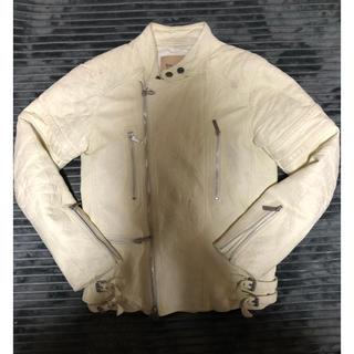 ジョンガリアーノ(John Galliano)のJOHN GALLIANO ライダースジャケット 刺繍 ジョンガリアーノ(ライダースジャケット)