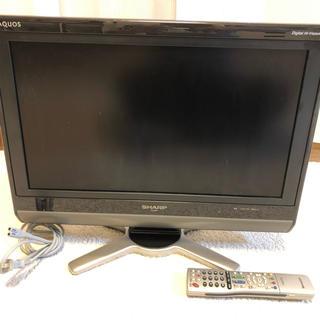シャープ(SHARP)のテレビ SHARP AQUOS 20型 送料込(テレビ)
