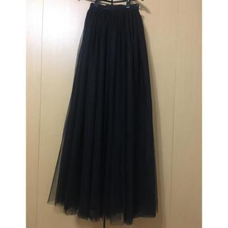 シックウィッシュ(Chicwish)の【新品未使用】chicwish ブラックチュールロングスカート(ロングスカート)