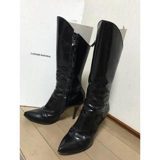 コスチュームナショナル(CoSTUME NATIONAL)の【お値下げ】コスチュームナショナル✴︎ブラックブーツ(ブーツ)