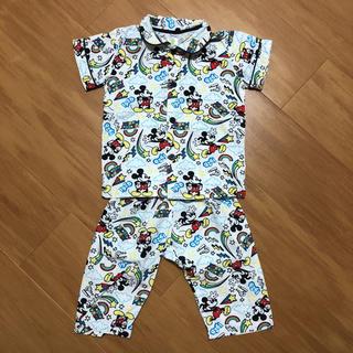 ディズニー(Disney)のディズニー ミッキー 腹巻き付き パジャマ 80(パジャマ)