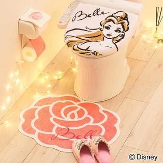 【まとめ売り】 美女と野獣 ベル ディズニー プリンセス トイレマット 4点(トイレマット)
