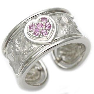 正規品 カレラ・イ・カレラ リング ピンクサファイア 天使 ハート 指輪 (リング(指輪))