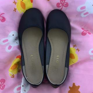 シマムラ(しまむら)のシマムラ 黒 フラットシューズ(ローファー/革靴)