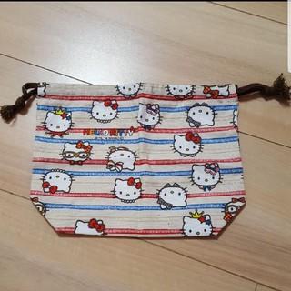 キティ巾着袋(ランチボックス巾着)
