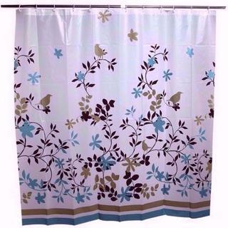無言OK シャワーカーテン カーテンリング付 180×180cm 送料無料 85(カーテン)