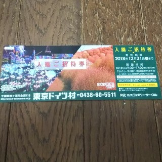 東京ドイツ村入園ご招待券1枚です。(遊園地/テーマパーク)