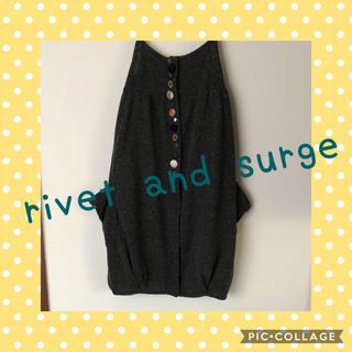 リベットアンドサージ(rivet & surge)のrivet and surge バルーンチュニック 秋冬素材 個性的 キャミ(チュニック)