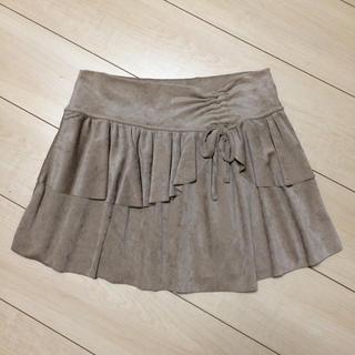 リズリサ(LIZ LISA)の美品 LIZ LISA ミニスカート ベロア ベージュ(ミニスカート)