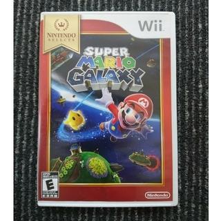 ウィー(Wii)のwii北米版  super mario galaxy スーパーマリオギャラクシー(家庭用ゲームソフト)