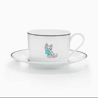 ティファニー(Tiffany & Co.)のアメリカ限定 新品 未使用 ティファニー カップ&ソーサー わんちゃん(グラス/カップ)