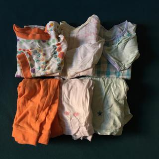腹巻付き長袖パジャマセット 80(パジャマ)