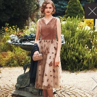 エメ(AIMER)のお値段交渉可 Aimer 今季ドレス ベルベット(その他ドレス)