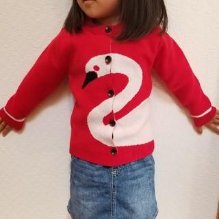 数量限定 激安特価♥️フラミンゴ♥️キッズカーディガン 子供服 女の子 セーター(ニット/セーター)