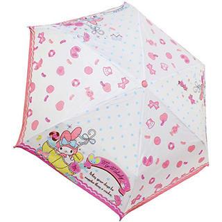 新品!マイメロディ 折りたたみ傘 クッキーパラソル(傘)