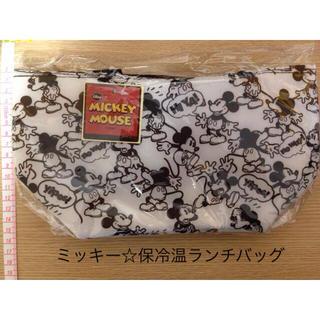 ディズニー(Disney)の【ミッキー☆保冷温ランチバッグ白】(弁当用品)