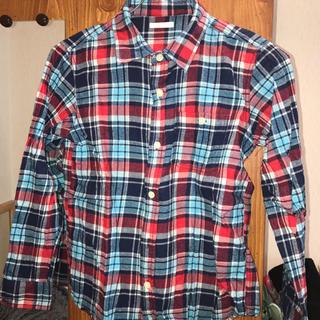 ジーユー(GU)のGUチェックシャツ ネルシャツ 子供用140(その他)