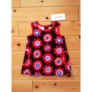 マリメッコ(marimekko)のマリメッコ marimekko 1歳 女の子 長袖 花柄 服 キッズ 北欧(ワンピース)