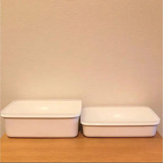 ムジルシリョウヒン(MUJI (無印良品))の無印 ホーロー 保存容器 2個セット タッパーウェア(容器)