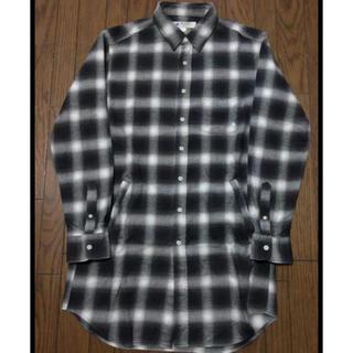ジーディーシー(GDC)のGDC ロング丈ネルチェックシャツ  Lサイズ(シャツ)
