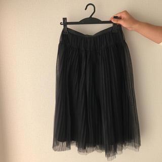 ルシェルブルー(LE CIEL BLEU)のチュールスカート(ひざ丈スカート)